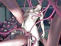 3D Tentacles Destroying a Teen Pussy!