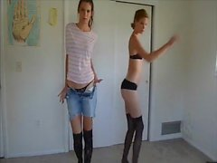 amateur teen twins strip (best strip video on xhamster)