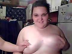 Fat Chubby Teens playing with their Tits and Pussy on Cam