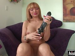 Naughty Maya has fun with big toys