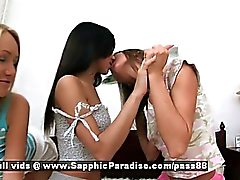 Aly and Irie ana Irene amateur lesbian girls kissing and masturbating