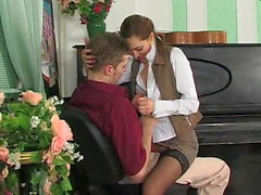 Russian piano tutor seduces young student helena