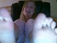 Cute teen webcam feet foot soles ayak taban