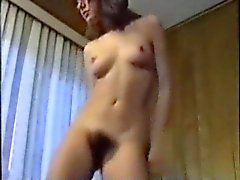 Hairy pussy girl dance and striptease