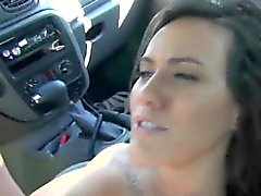 Pretty Ex Girlfriend Fucked And Facial Outdoors By Car