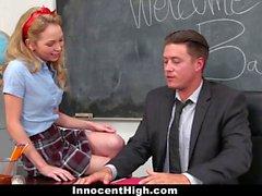 InnocentHigh Promiscuous Teen Fucks Teacher