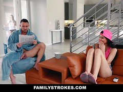 FamilyStrokes Hot Asian Teen Fucks StepDad