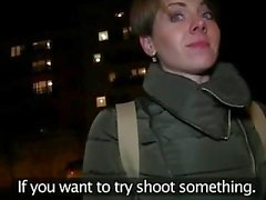 PublicAgent Short hair babe fucked from behind