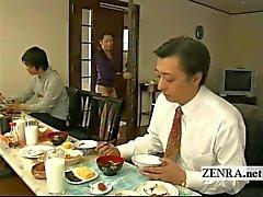 Subtitled bizarre Japanese bottomless no panties house