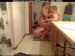 Blonde Teen BJ, Fuck And CIM In Her Bathroom