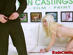 Real teen roughfucked on the casting couch