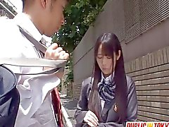 Schoolgirl Mana Katase group public action