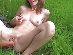 Nasty amateur fisted in public
