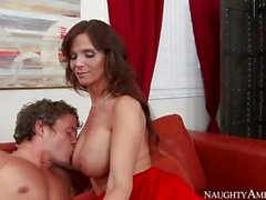 Redhead Mom Syren De Mer In Red Dress
