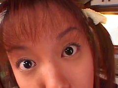 Little Japanese Schoolgirl Cum Covered