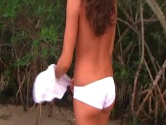 Hot Naked Teen Running Around Outside in Public