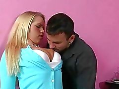 Blonde teen Britney Young pick up a dude