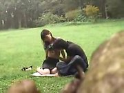 Lustful young lovers engage in passionate sex action in the