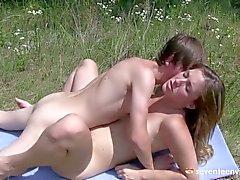 Russian teens outdoor sex