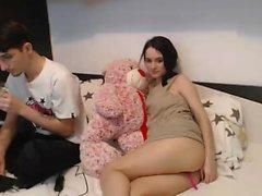 Fetish couple playing on webcam