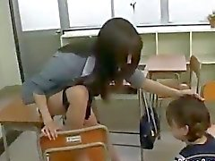 Schoolgirl Drawing Teachers Pussy Getting Her