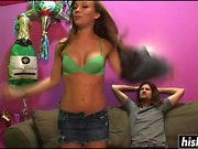 Hottie gets an incredible facial after blowing