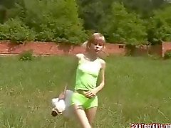 Young farm girl is out for a good fuck
