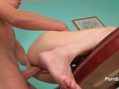 Cute skinny babe gets her wet pussy