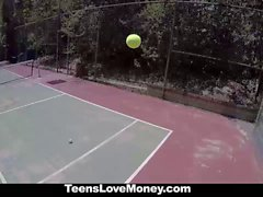 TeensLoveMoney Tennis Slut Fucks For Cash