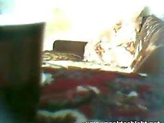 Hidden cam with very hot teen in black socks
