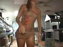 Amateur teen girlfriend with big boobs sucks and fucks