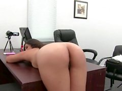 Squirting Anal Loving Teen Yasmine on Backroom Casting Couch