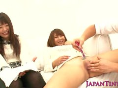 Squirting asian gangbang with tiny teen