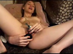 19yo Teen DP on Cam Climax Gently