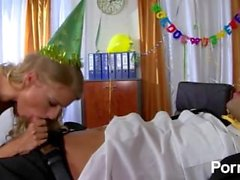 Birthday Party Of Champagne And Cock