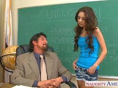 Small titted schoolgirl Trinity St. Clair fucking teacher