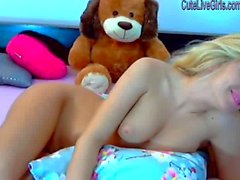 gorgeous blonde masturbating with a dildo 5 .wmv