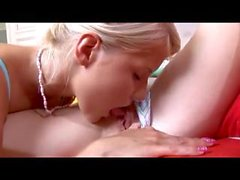 Hot blonde lezzies with toys in 69