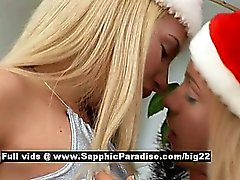Ingrid and Larissa from sapphic erotica lesbo girls licking