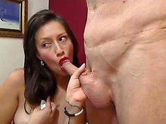 Irresistible brunette engages in wild sex action with a hor