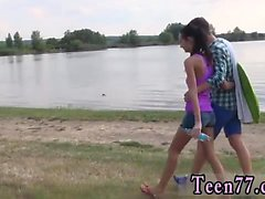 Tiny teen piper perri xxx Eveline getting plowed on camping