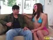 Teen babe Vanessa Cage loves to slam hard