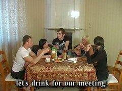 Drunken russian youth