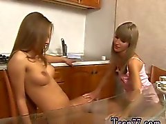 Horny lesbo teens licking each other pussies