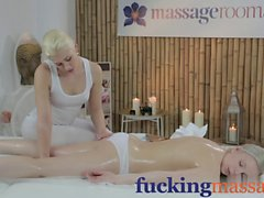 Massage Rooms Innocent young blonde has deep orgasm