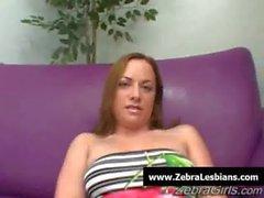 Zebra Lesbians - Sexy black lezbo babes fuck white teens 07