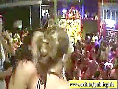Horny Public party with wild teens and coeds