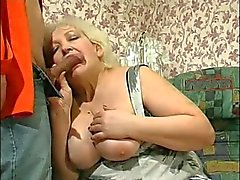 Kinky Blonde Granny Seduces Cock