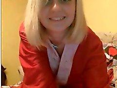 19yo blonde college teen masturbates on webcam