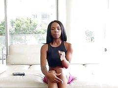 TeenyBlack - Ebony Cutie Wants To Be A Pornstar